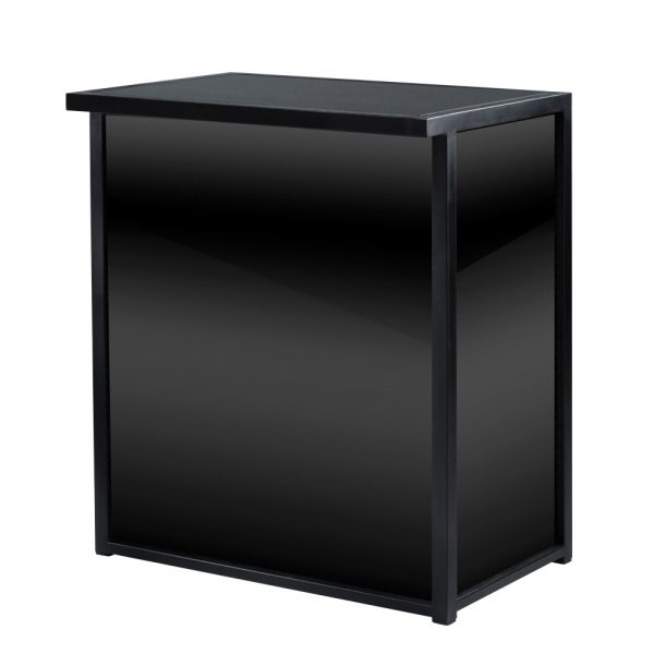 Maxim Counter is a modern counter that can be used as a bar or podium. Available in black gloss or white gloss with black frame.