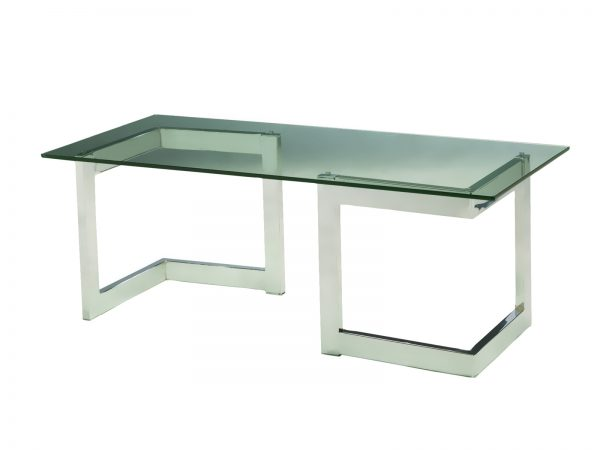 Chrome Geo Cocktail Table is a rectangular glass cocktail table will make your tradeshow more productive by creating interactive environment.
