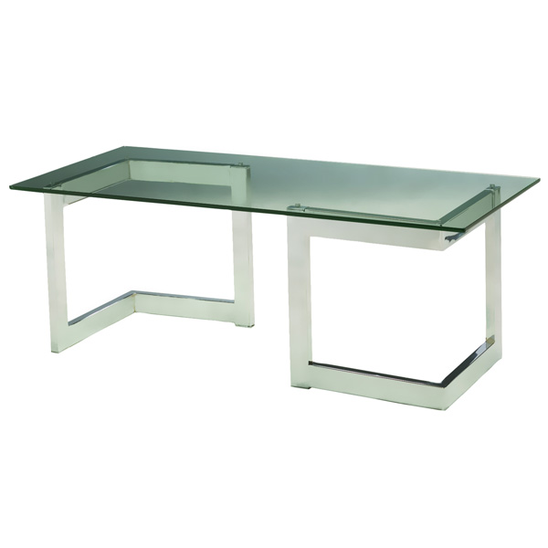 Chrome geo cocktail table camelback displays Geo glass coffee table