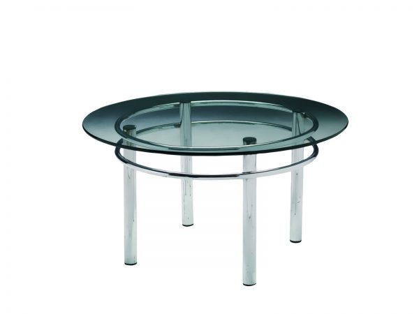 Silverado Cocktail Table is a round glass cocktail table will make your tradeshow more productive by creating interactive environment.