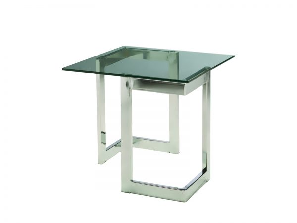 Chrome Geo End Table is a square glass end table will make your tradeshow more productive by creating interactive environment.