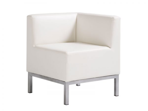 Heathrow Corner Chair is a stylish, compact and versatile corner chair is perfect for smaller or large modern seating environments.
