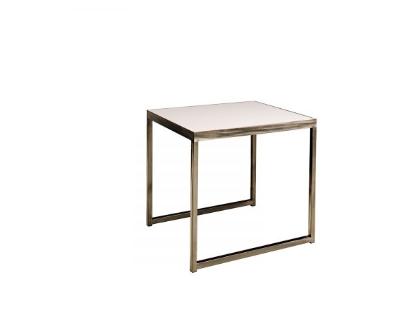 White Sydney End Table is a rectangular white laminate end table that will make your tradeshow more productive by creating interactive environment.