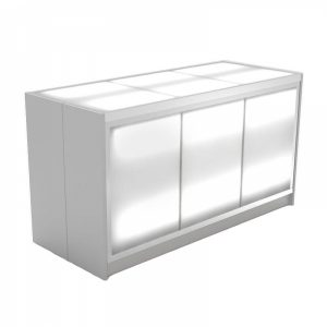 Make your trade shows, events, or meeting with a nice clean modern look with our Lucky3 Bar.