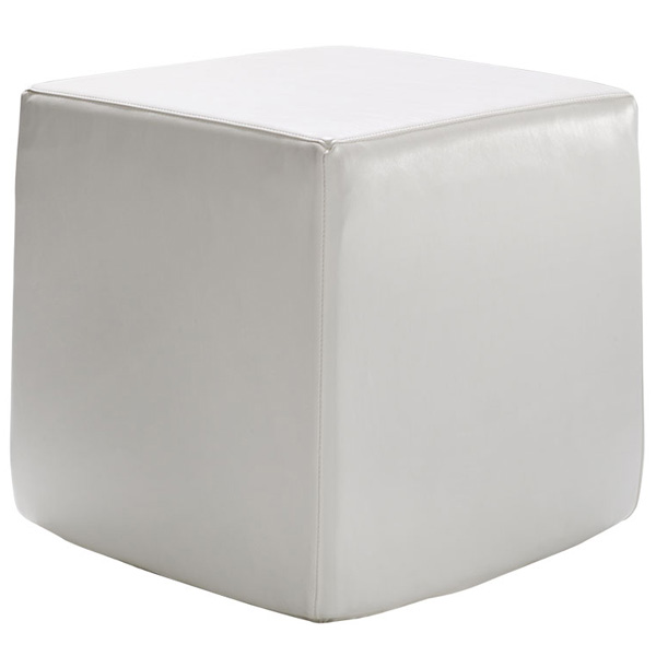 Vinyl Cube Ottoman is a vinyl ottoman cube is waterproof and adds a pop of color to any design that is perfect for both indoor and outdoor use.
