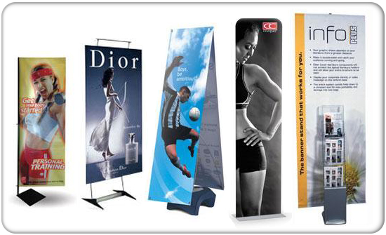 Banner stands 2 product wide