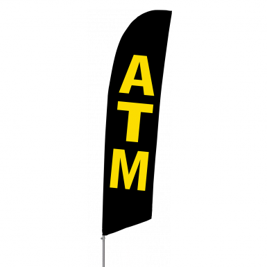 Bowflag Stock Design ATM Flag Banner