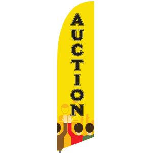 Bowflag® Stock Design Auction Flag Display