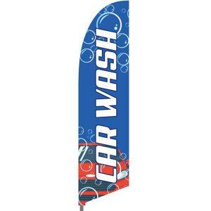 Bowflag® Stock Design Car Wash Flag Display