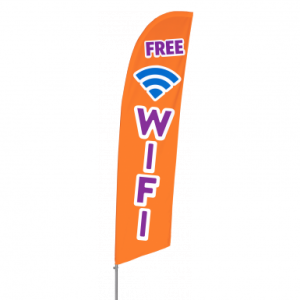 Bowflag Stock Design Free Wifi Flag Banner