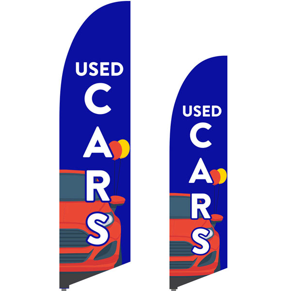 Bowflag® Stock Design Used Cars Feather Flag
