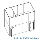 exhibit conference multi room double deck structures