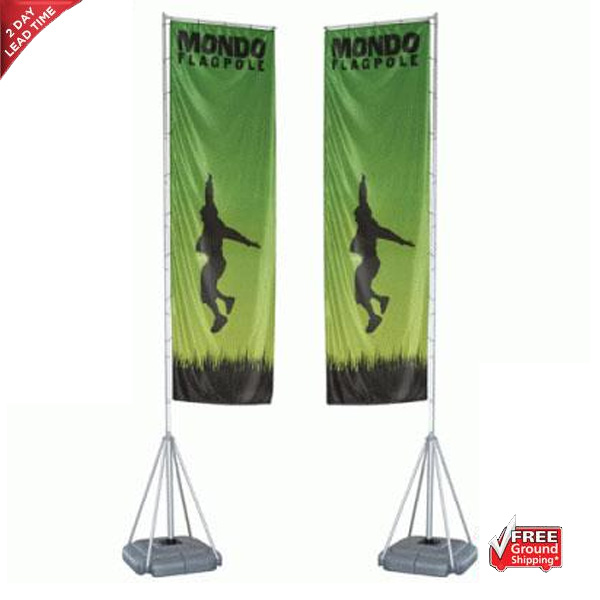mondo flagpole outdoor banner system