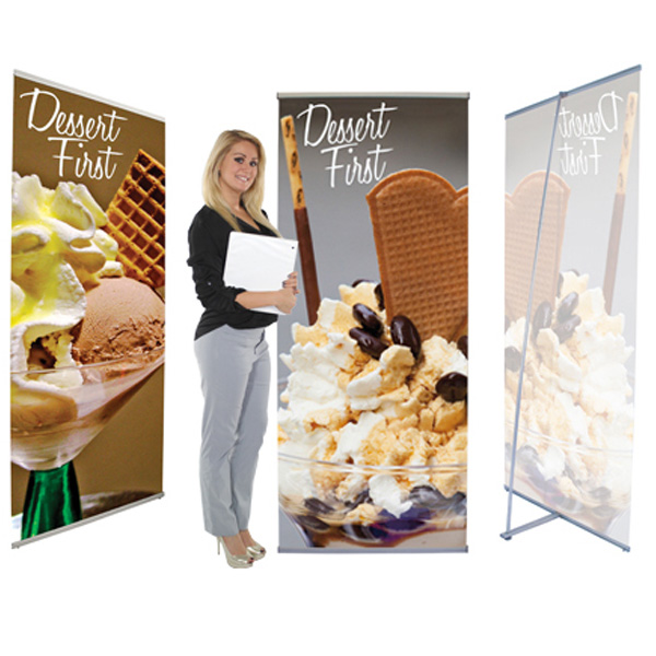 36 Inch L Banner Stands
