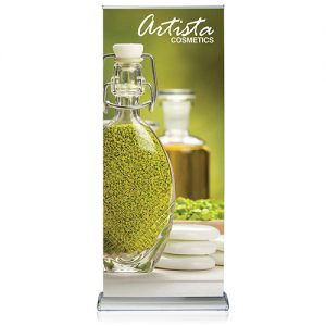 Doublestep Retractable Banner Stand Graphic Package