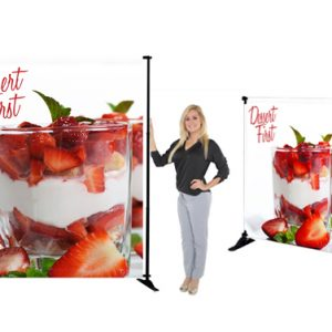 5Ft Slider Banner Stand Fabric Graphic Package