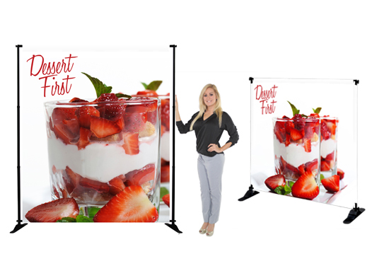 Slider Banner Stand Fabric Graphic Package