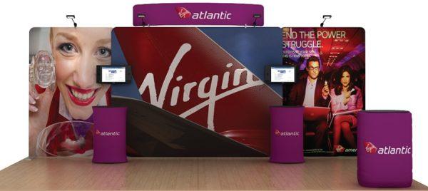 Atlantic 20' Curved Tension Fabric Display WaveLine Media Kit