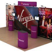 Atlantic 20' Curved Tension Fabric Display WaveLine Media Kit left