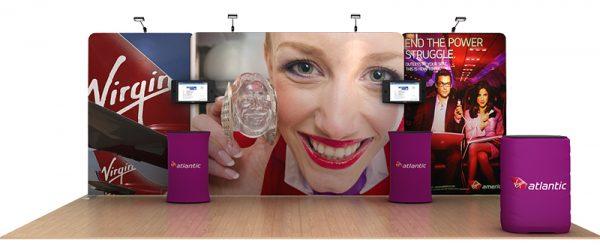 Atlantic 20' Tension Fabric Display WaveLine Media Kit