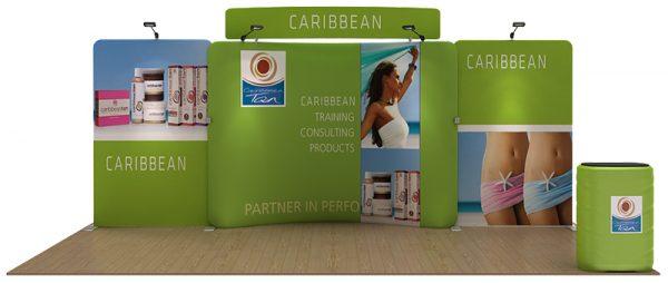 Caribbean 20' Curved Tension Fabric Display WaveLine Media Kit