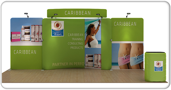 caribbean 20ft curved waveline media kit