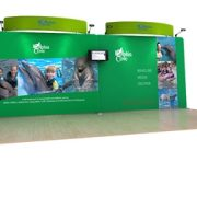 Dolphin 20' Curved Tension Fabric Display WaveLine Media Kit front