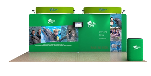 Dolphin 20' Curved Tension Fabric Display WaveLine Media Kit