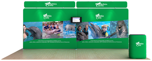 Dolphin 20' Flat Tension Fabric Display WaveLine Media Kit