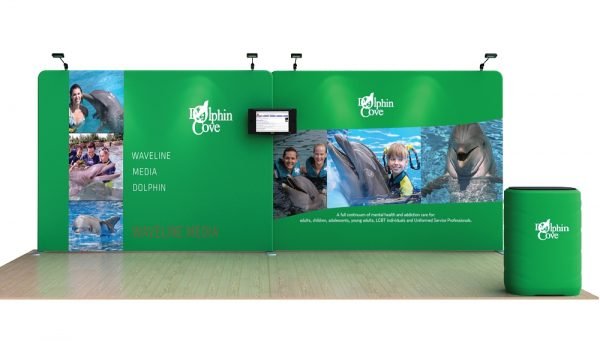 Dolphin 20' Tension Fabric Display WaveLine Media Kit
