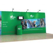 Dolphin 20' Tension Fabric Display WaveLine Media Kit left