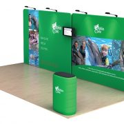 Dolphin 20' Tension Fabric Display WaveLine Media Kit right