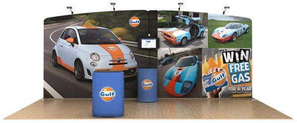 Tension Fabric Display Gulf 20' WaveLine Media Kit
