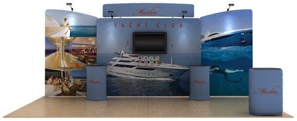 Marlin 20' Curved Tension Fabric Display WaveLine Media Kit
