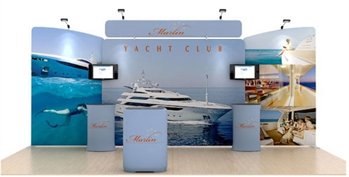 Marlin 20' Flat Tension Fabric Display WaveLine Media Kit