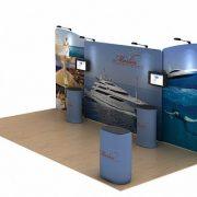 marlin 20ft tension fabric display waveline media kit right