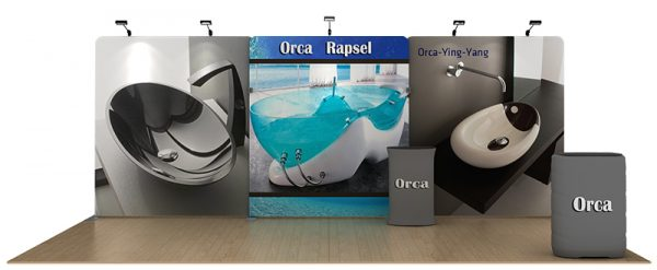 Orca 20' Tension Fabric WaveLine Media Kit