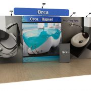 orca 20ft tension fabric display waveline media kit left