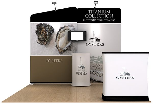 Oyster 10' WaveLine Tension Fabric Display Media Kit