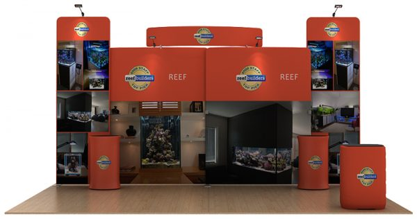 Reef 20' Curved Tension Fabric WaveLine Media Kit