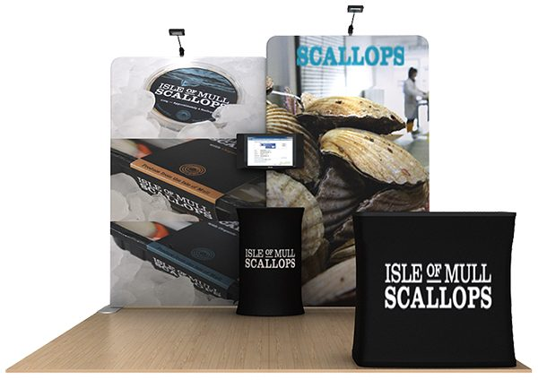 Scallop 10' WaveLine Tension Fabric Display Media Kit
