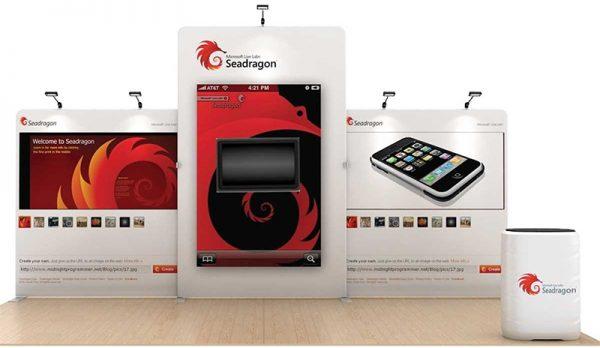 Seadragon 20' WaveLine Tension Fabric Display Media Kit