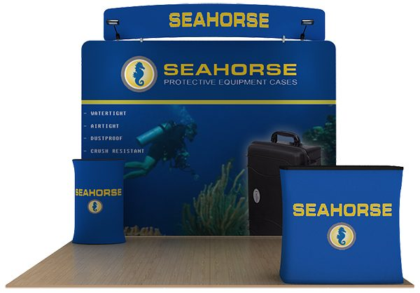 Seahorse 10' WaveLine Curved Tension Fabric Display Media Kit