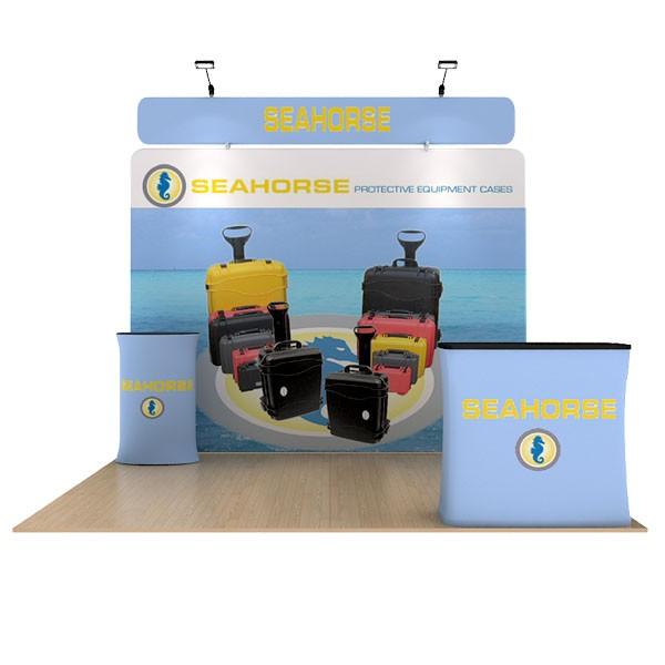 Seahorse 10' WaveLine Flat Tension Fabric Display Media Kit