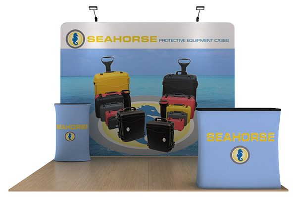Seahorse 10' WaveLine Tension Fabric Display Media Kit