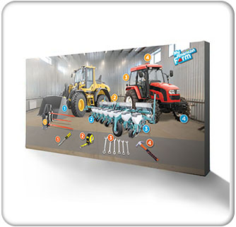 American Farm Bureau Foundation for Agriculture 15ft Machine Backwall Banner 3 wide Thumbnail