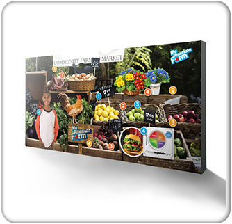 American Farm Bureau Foundation for Agriculture 15ft Farmer's Market Backwall Banner 3 wide Thumbnail