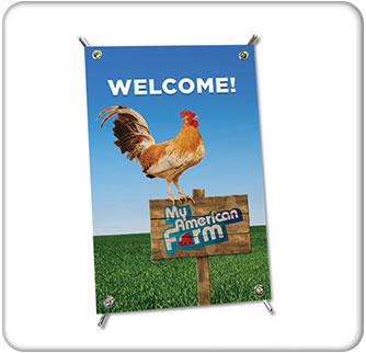 American Farm Bureau Foundation for Agriculture Counter Top Banner 3 wide Thumbnail