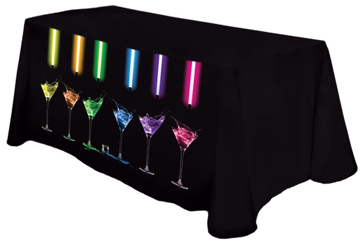 8ft Poly Poplin Front Printed Table Throw Cover