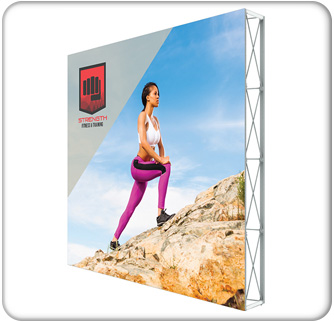 lumiere light wall non backlit single sided display 10ft x 10ft